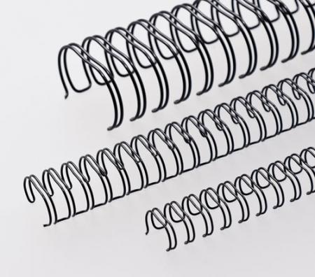 2:1 Teilung silber RENZ Draht-Bindeelemente =DIN A4 23 Schlaufen Ø 25,4 mm